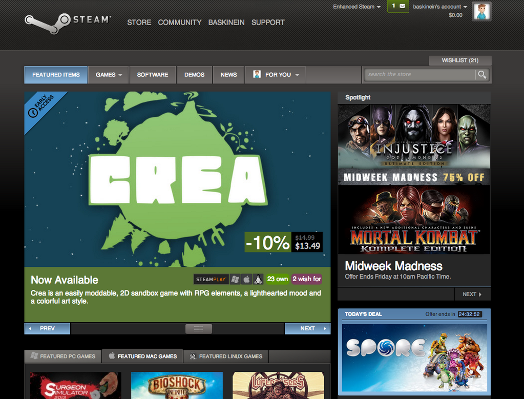crea_steam_frontpage